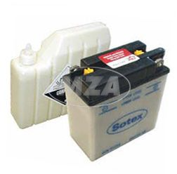 SOTEX-Batterie - 6V 11,0 Ah - 6N11A-1B (ohne SÄUREPAKET) IWL Troll