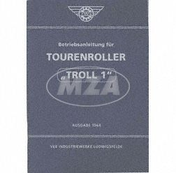Betriebsanleitung Tourenroller TR150 Ausgabe 1964 (6. Auflage mit 25 Bildern)