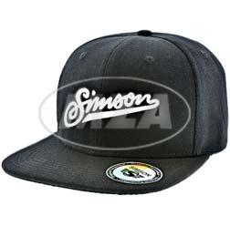 Basecap, schwarz - Motiv SIMSON weich