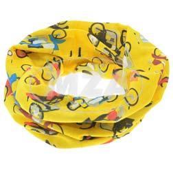 Schlauchtuch im Retro-Stil mit verschiedenen Fahrzeugen - gelb/ mehrfarbig