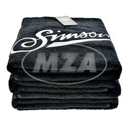 Badehandtuch, schwarz, Größe: 150x100 cm, Motiv: SIMSON - 100% Baumwolle