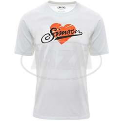 T-Shirt, Motiv: Herz Simson Größe: M 100% Baumwolle