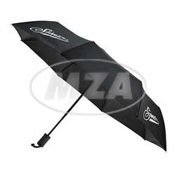 Regenschirm, schwarz, Motiv: SIMSON - Ø98 cm geöffnet