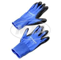 Paar-Arbeitshandschuhe, blau, Größe: XL, Motiv: SIMSON