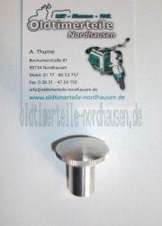 Knopf / Knauf Seitenklappe / Verschluss Benzinhahnklappe (Alu) IWL