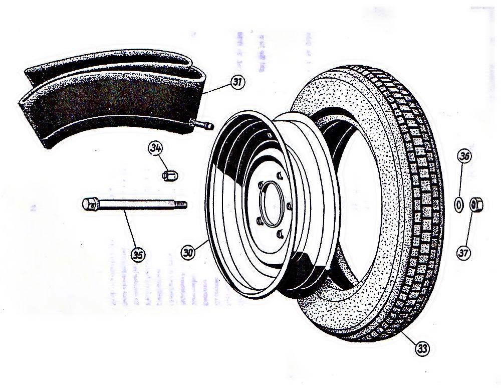 Reifensatz Mitas 3x 3,50-12 IWL Pitty Wiesel Troll Berliner Roller