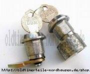 Schloßsatz IWL Lenkerschloss+Sitzbankschloss (seitlich), Haken