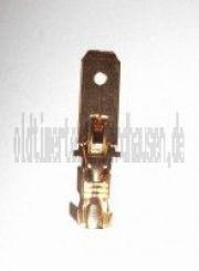 Flachstecker SET 100 Stück,  6,3 mit Rastnase - Kabelschuh  DIN 46343 für Kabel 0,75-1,5