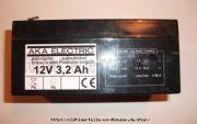 Batterie 12 V 3,0Ah Akku (Gel-wartungsfrei) für Leergehäuse IWL