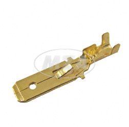 Flachstecker 6,3 mit Rastnase - Kabelschuh  DIN 46343 für Kabel 0,75-1,5