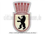 Plakette Wappentier Bär gewölbt IWL Berlin SR59