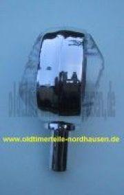 Lenkerblinkleuchte, Blinker SPORT Chromlook+weisses Glas (incl. 6V orange Soffitte)