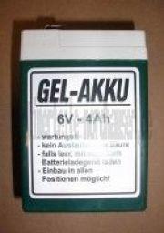 Batterie Akku 6V 4,5Ah (Gel-wartungsfrei) für Leergehäuse IWL