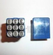 Schlagzahlen (Set der Zahlen 0 - 9, Höhe 4mm) IWL, MZ, Simson